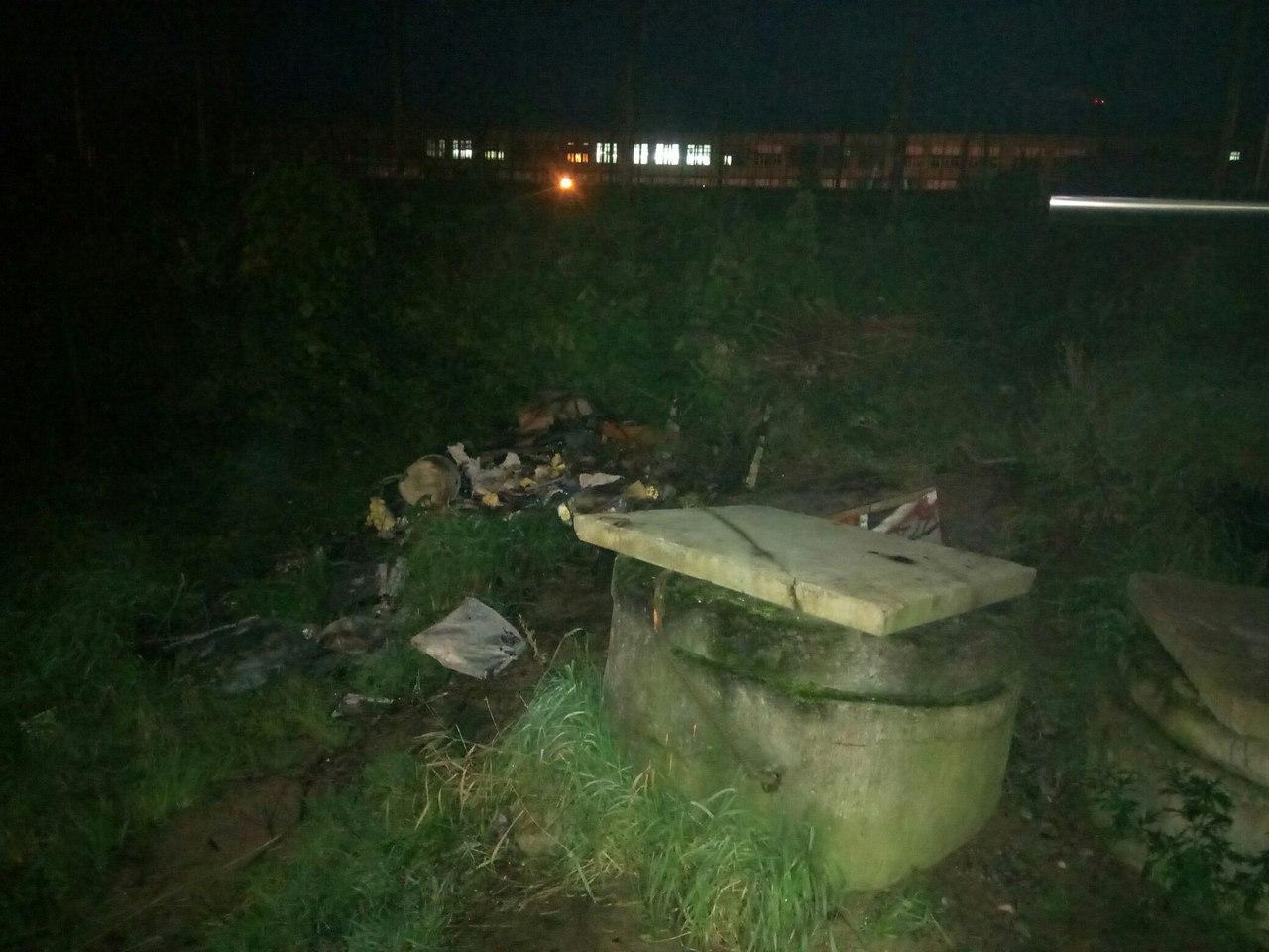 мусорка на месте раздачи горячей еды